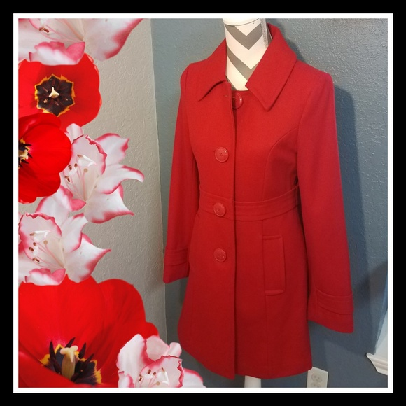 Tulle Jackets & Blazers - Red Pea Coat